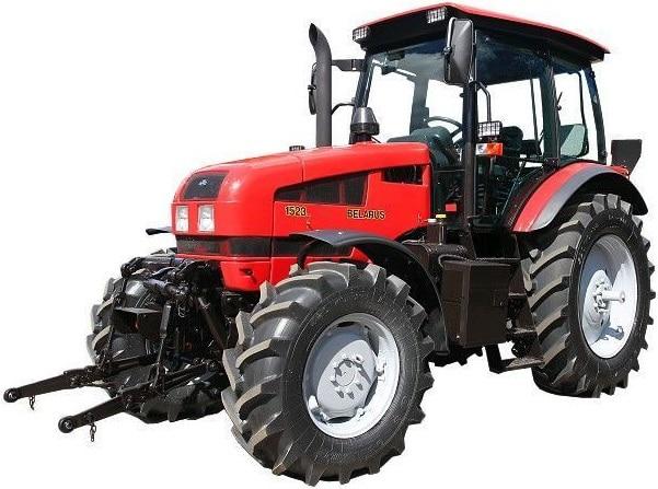 Tractor Belarus 1523.3-51 / 55-002 اتصال جلو ، PTO ، گیربکس 24/12 ، تهویه هوا
