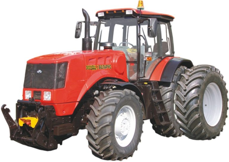 Tractor Belarus 3022DTS.1-46 / 461-000 (جلو و شافت PTO ، در مقابل بارهای 1300 کیلوگرمی)
